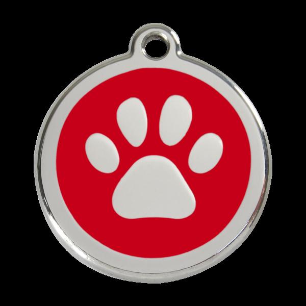 RedDingo Hundemarke PAW PRINT rot