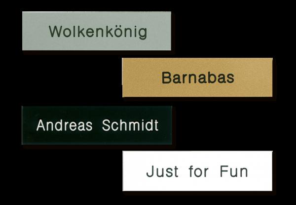 Namensschilder für Schrank oder Sattel-/Trensenhalter