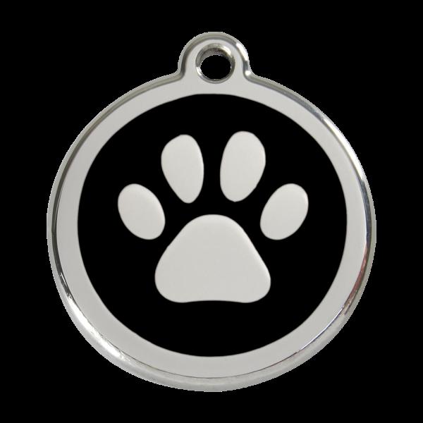 RedDingo Hundemarke PAW PRINT schwarz